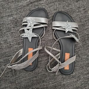 Rocket Dog Silver Star Strappy Sandals
